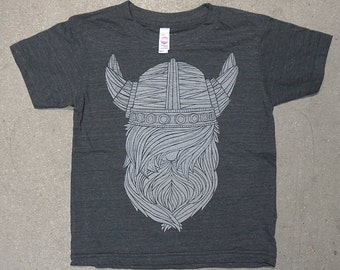 VIking Kids Tee   Tri Blend Charcoal T Shirt