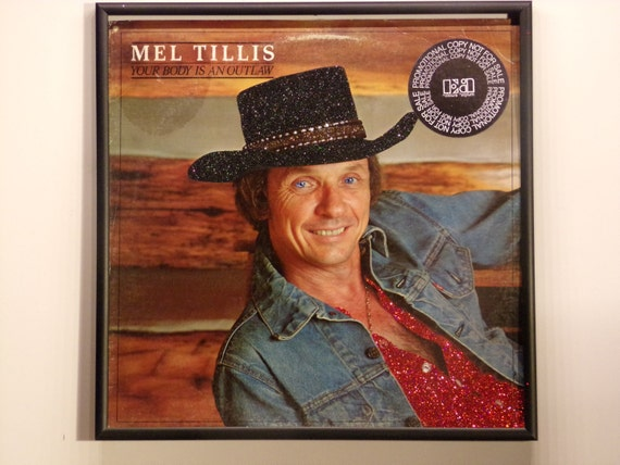 Glittered Record Album - Mel Tillis - Your Body Is An Outlaw
