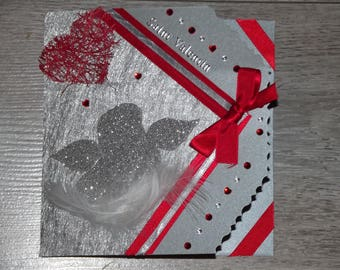 "Card Valentine's day ""pensive Angel"""