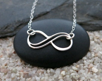 Infinity Necklace, Sterling Silver Infinity Pendant, Infinity Jewelry