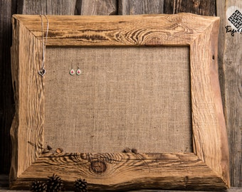Handcrafted reclaimed wood jewelry holder
