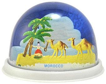 Vintage Souvenir Travels of the World Snow Globe - Morocco
