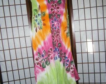 Women's Sleeveless Tye-Dye Dress