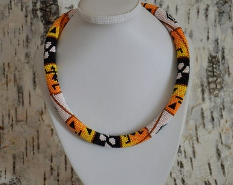 Necklace from Czech beads African Pattern