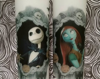Nightmare Before Christmas Jack and Sally candle set Oogie is new this season