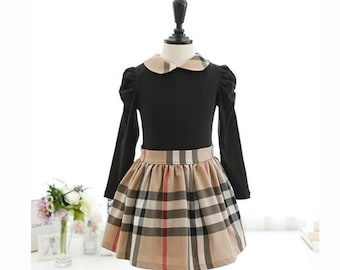 Burberry Style Girl Dress, Size 5-6