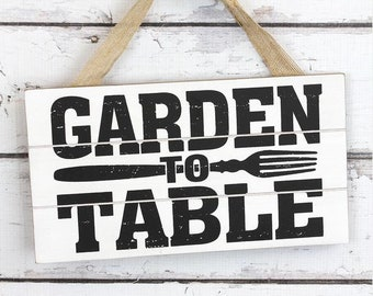 Garden To Rable hangin sign