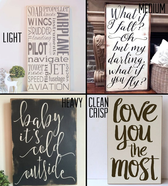 Wooden sign home decor