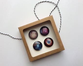 Outer Space Magnet Gift Set With Box and FREE SHIPPING within the US // Stars, Astronomy, Space, Gift for Her Gifts for Him Under 20