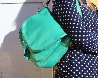 Leather Bag / Leather Handbag / Leather Messenger / Leather Shoulder Bag / Green Leather Bag / Green Leather Handbag / Green Messenger