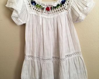 Size 3 hand crochet cotton dress