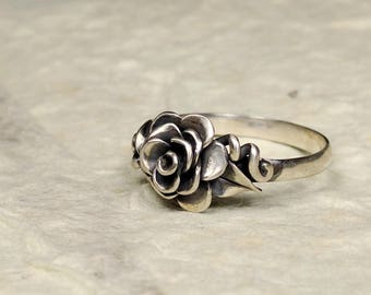 Briar Rose Ring, Sterling Silver