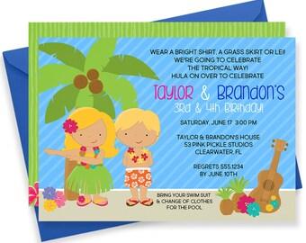 Luau Invitation, Hawaiian Invitations, Luau Birthday Invitation, Luau Party, Luau Party Invitations, Luau Invite, Luau Birthday | 53