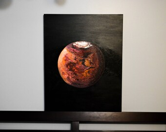 Mars Arrival - Large Original Acrylic Painting on Canvas - deep texture