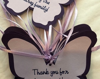 Personalized Buttefly  Favor Tags