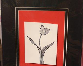 Black and White Tulip