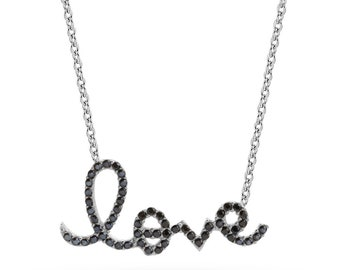 14K Gold Love Necklace/Gold Necklace Available in 14k Gold, White Gold or Rose Gold