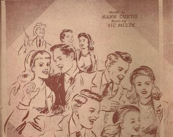 With a Hey and a Hi and a Ho Ho Ho! + Mann Curtis + Vic Mizzy + 1947 + Vintage Sheet Music