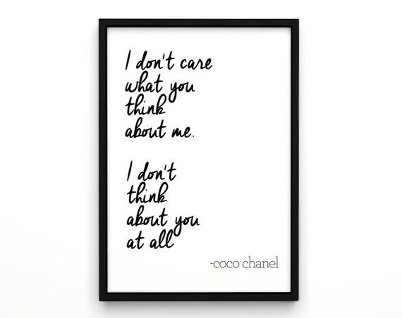 Citaten Coco Chanel : Citaten van coco chanel poster wall decor
