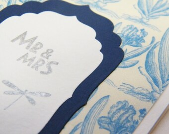 wedding day card, congratulations card, Mr and Mrs card, marriage card, wedding congrats card, newly wed card, wedding shower card,
