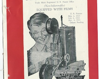 keystone moviegraph  toy book advertisments 1930