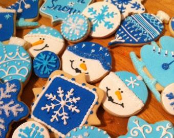 Custom Winter Fun Sugar Cookies