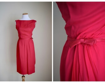 Vintage 1960s dress | silk chiffon 60s dress