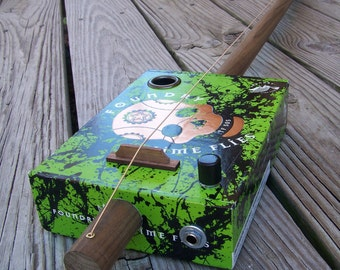 Diddley Bow - Foundry Time Flies Cigar Box