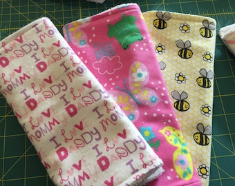 Burp Cloths Baby Girl-Bees