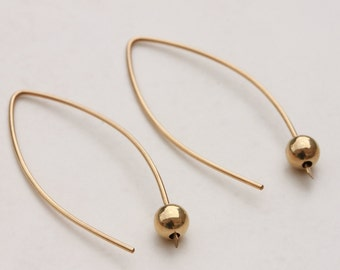 Open Hoop Earrings, Minimalist Gold Earrings, Ball Earrings, Almond Shape, Gold Earrings, Arc Earrings, Line Earrings, Ear Threaders