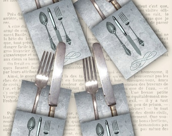 Cutlery Holders Printable utensil decor table setting dinner diy crafting instant download digital collage sheet - VDMIVI1172