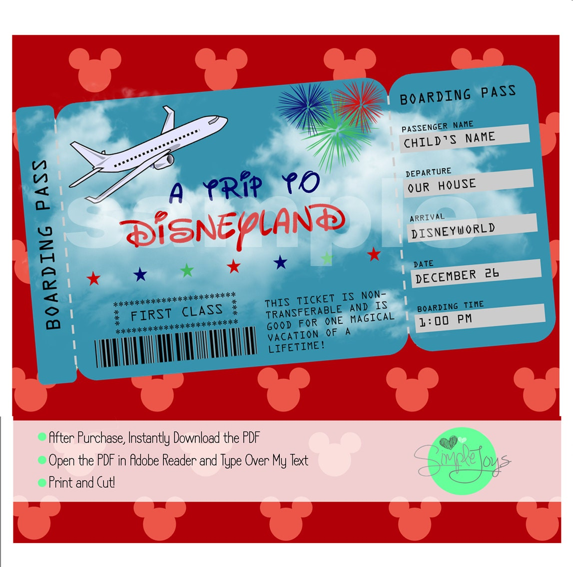 printable ticket