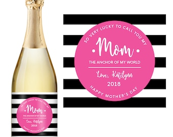 Mother's Day Champagne Label - Custom Champagne Label - Personalized Champagne Label - Mother's Day Gift - Mothers Day Wine