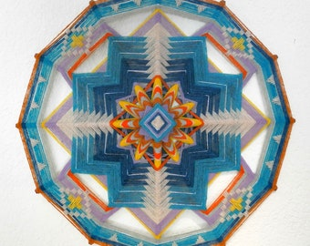 Starburst, 24 inches, 12-sided Ojo de Dios, in stock by Jay Mohler