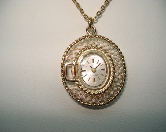 Tissot watch etsy tissot vintage ladies pendant watch fancy filigree pendant mechanical hand winding working audiocablefo