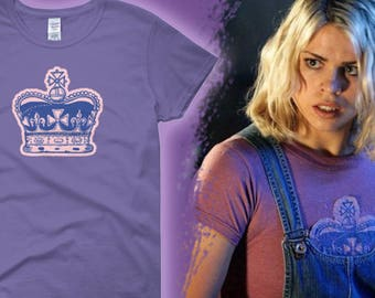 Ladies Fit -- Doctor Who Rose Tyler Tooth and Claw Inspired Purple Cosplay T-shirt