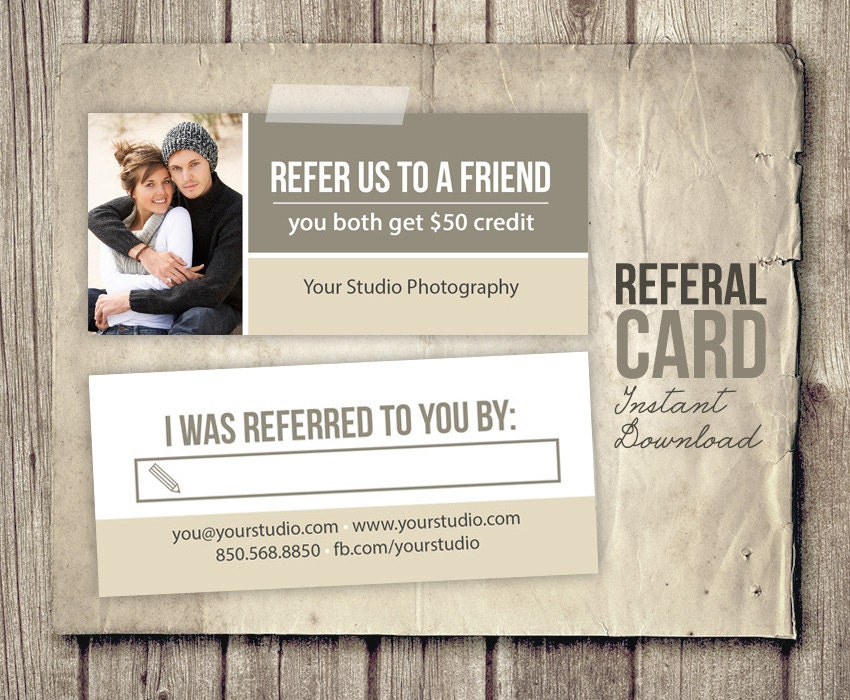 Photography Referral Card Template Rep Card Referral
