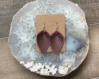 Faux Leather Rose Gold earrings