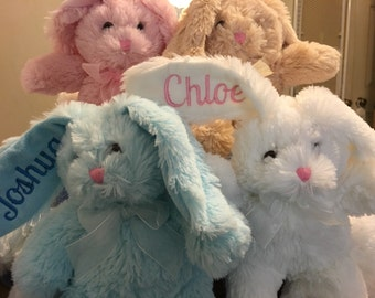 Personalized Bunny-perfect for new baby, Easter, shower gift...