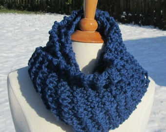 Cozy and Plush Blueberry Cowl Scarf Neck Warmer