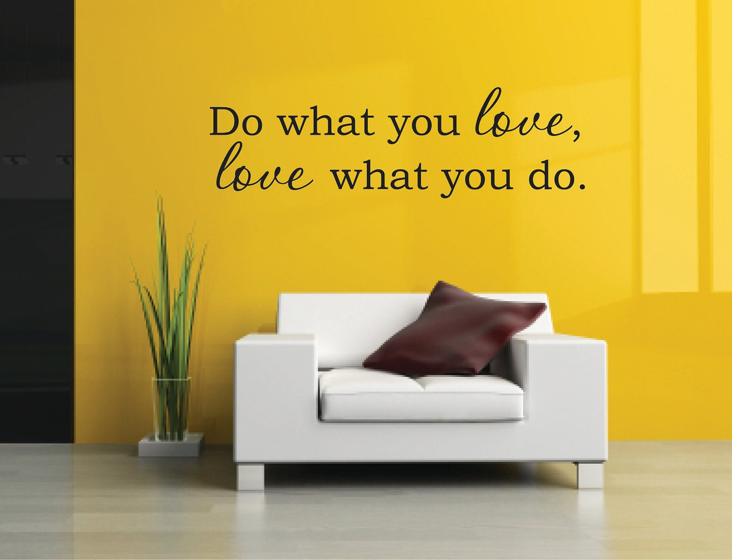 Do what you love Decals Love Vinyl Wall Decal Love Wall