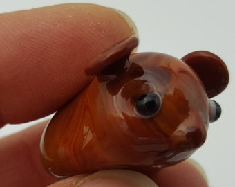 Guinea Pig, Glass Figurine, mini glass animal, fun accent, collectable glass, cute gift, guinea pig gift, small gift, fairy garden, pet gift