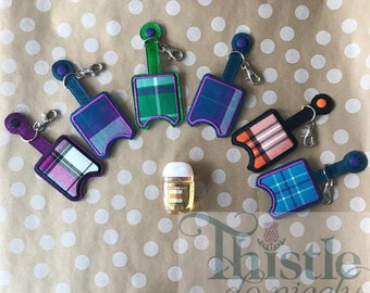 Scottish Tartan Hand Sanitizer Keyfob