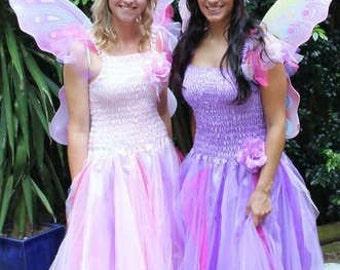 Adult Fairy Halloween  Costume ~  Mardi Gras ~Tulle Headpiece ~ Party Dress ~ Masquerade ~ Theatre ~ Fantasy ~ Ren Faire