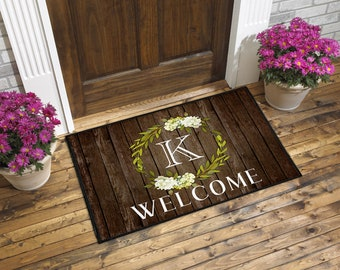 mats monogram medium of monogrammed insert size designs front doormat door uk mat catalogue