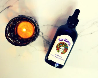 Meditation Oil for Yoga + Prayer Rituals + Wiccan Rituals + Clear Intentions + Affirmations | Wax On Full Moon Meditation Oil