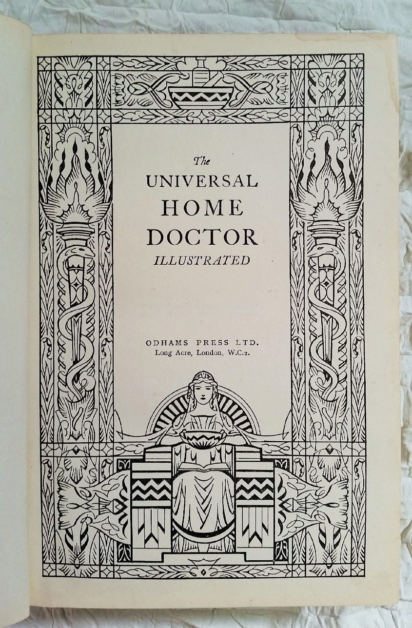 Vintage Medical Book The Universal Home Doctor Illustrated Odhams