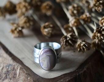 Sterling Silver Autumn Ring - Natural Gemstone - Rustic - Organic - Handmade