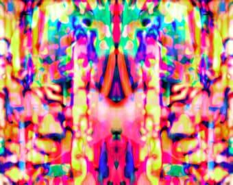 Rainbow Ink - Digital Art piece (Instant Download)