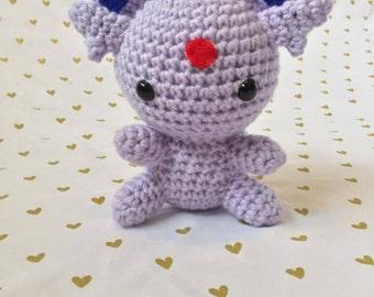 Espeon, Crochet Espeon, Amigurumi Espeon